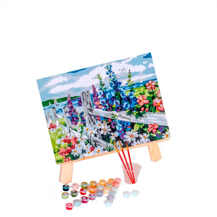 Set pictura pe numere, cu sasiu, Village Outskirts, 30x40 cm 0