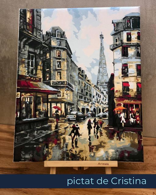 Set pictura pe numere, cu sasiu, Paris [1]