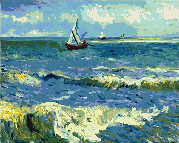 Peisaj maritim, reproducere van Gogh [0]