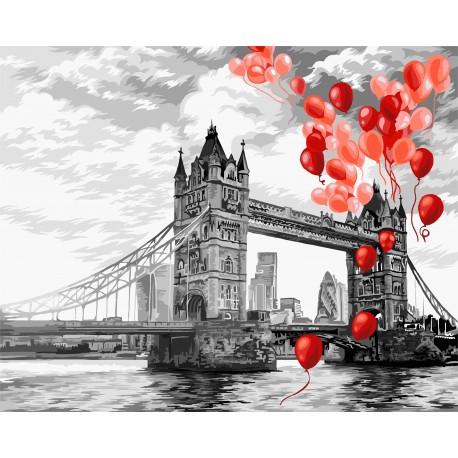 Set pictura pe numere, cu sasiu, Podul Turnului din Londra, 40x50 0