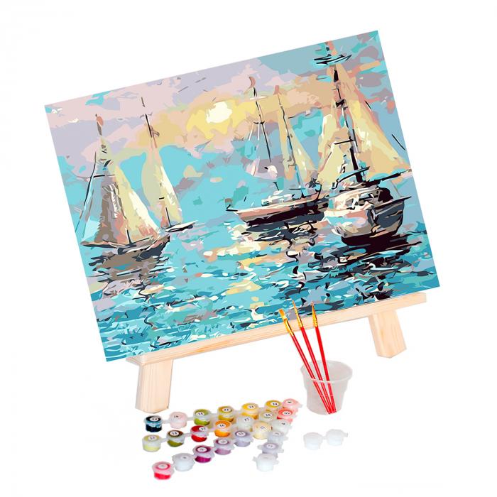 Set pictura pe numere, cu sasiu, Port linistit [1]