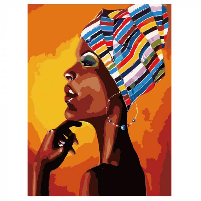 Pictura pe Numere, cu sasiu, Portret African [0]