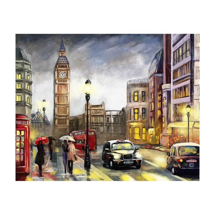 Pictura pe numere, cu sasiu, Toamna la Londra, 40x50 cm [0]