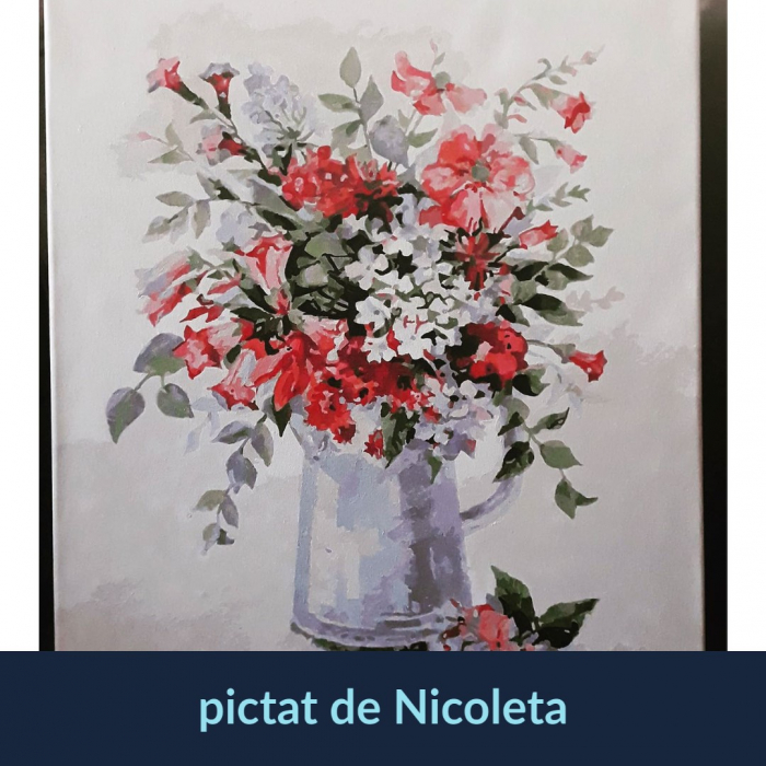 Set pictura pe numere, cu sasiu, Rapsodie Florala [1]