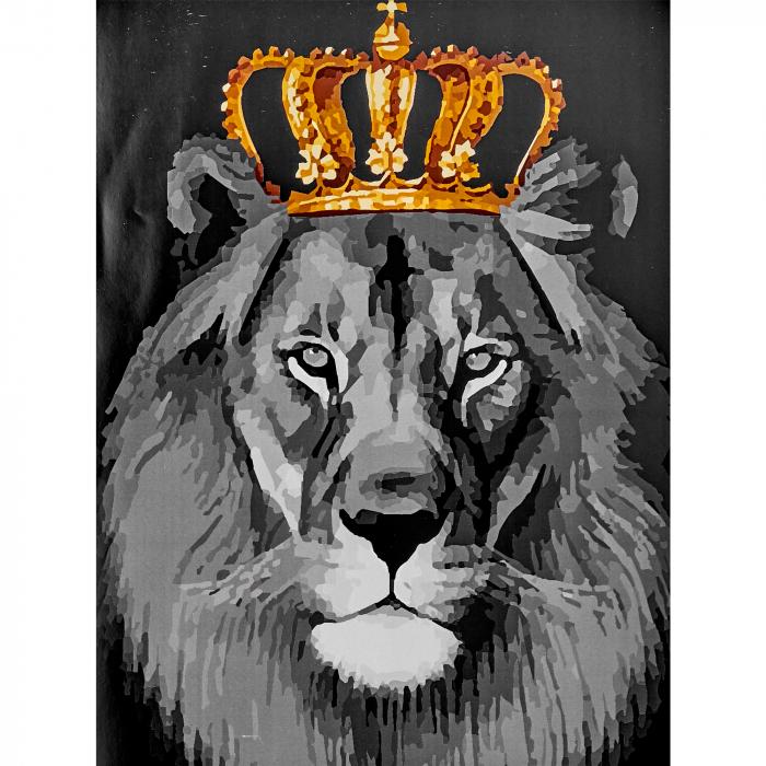 Pictura pe Numere, cu sasiu, Regele Leu, 40x50 cm 0