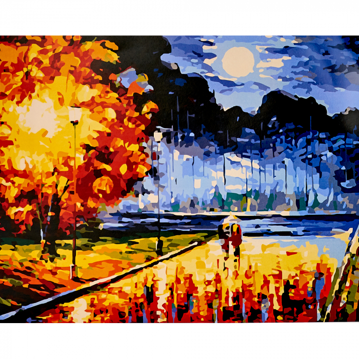Set pictura pe numere, cu sasiu, Senzatie de toamna, 40x50 cm | Picturi pe numere | dego.ro 0