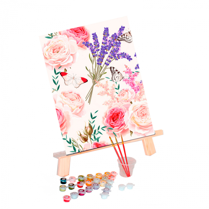 Set pictura pe numere, cu sasiu, Spring Melody, 30x40 cm 0
