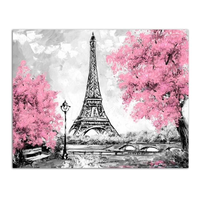 Pictura pe numere, cu sasiu, Turul Eiffel, 40x50 cm [0]
