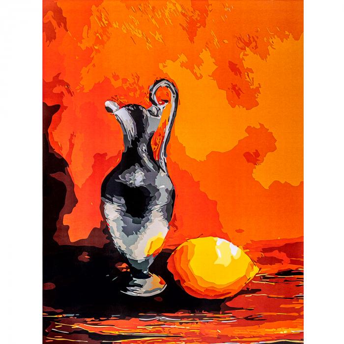 Set pictura pe numere, cu sasiu, Ulcior, 30x40 cm 2