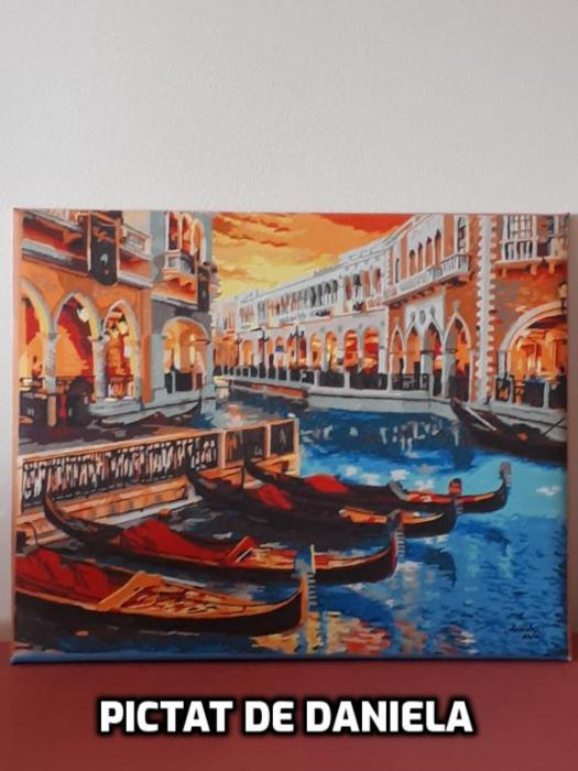 Set pictura pe numere, cu sasiu, Venetia, 40x50 [1]