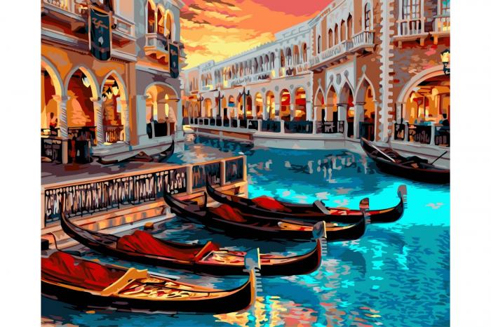 Set pictura pe numere, cu sasiu, Venetia, 40x50 0