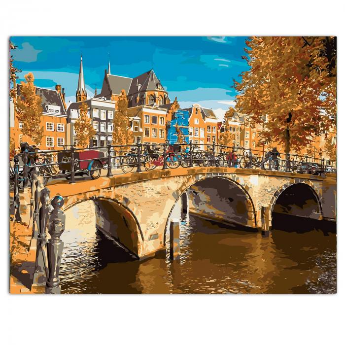 Set pictura pe numere, cu sasiu, Amsterdam 0
