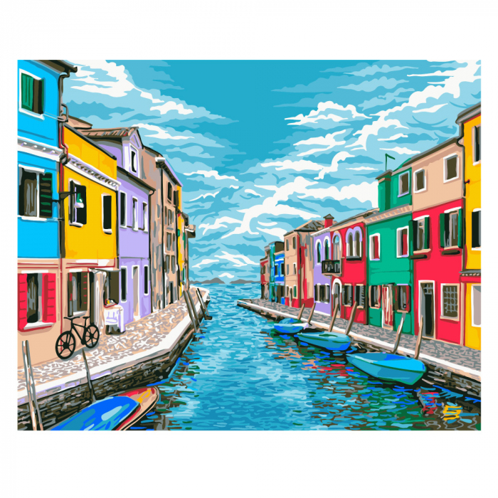 Set pictura pe numere, cu sasiu, Venetia, 40x50 cm 0