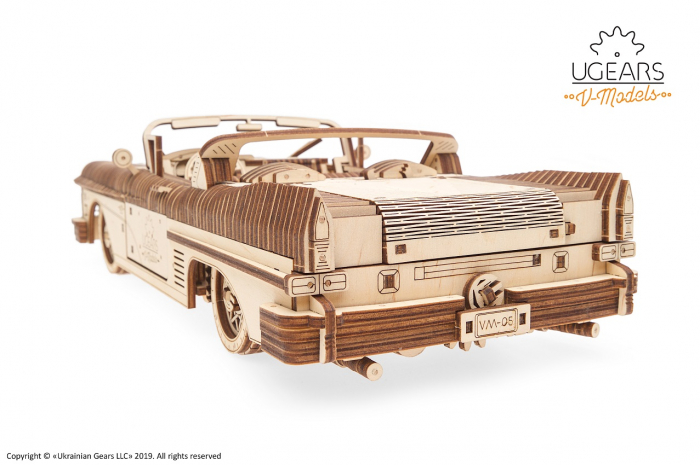 Puzzle 3D Mecanic, Dream Cabriolet, 739 piese [1]