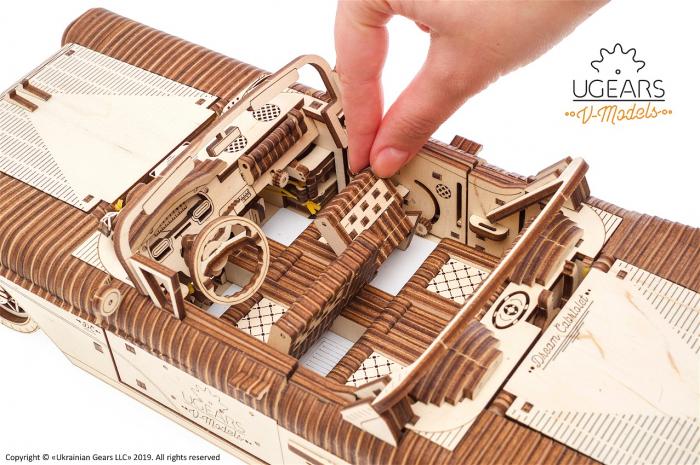 Puzzle 3D Mecanic, Dream Cabriolet, 739 piese [4]