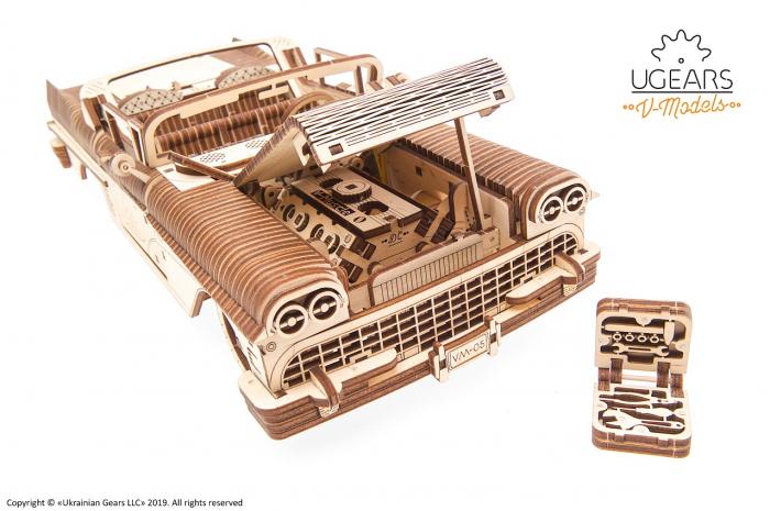 Puzzle 3D Mecanic, Dream Cabriolet, 739 piese [7]
