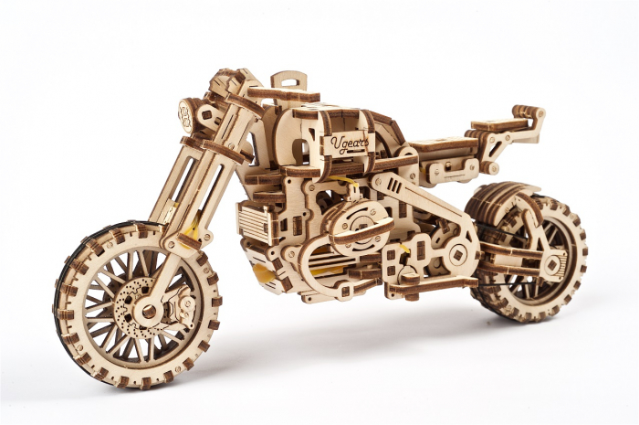 Puzzle 3D Mecanic, Motocicleta Scrambler UGR-10, 380 piese [16]