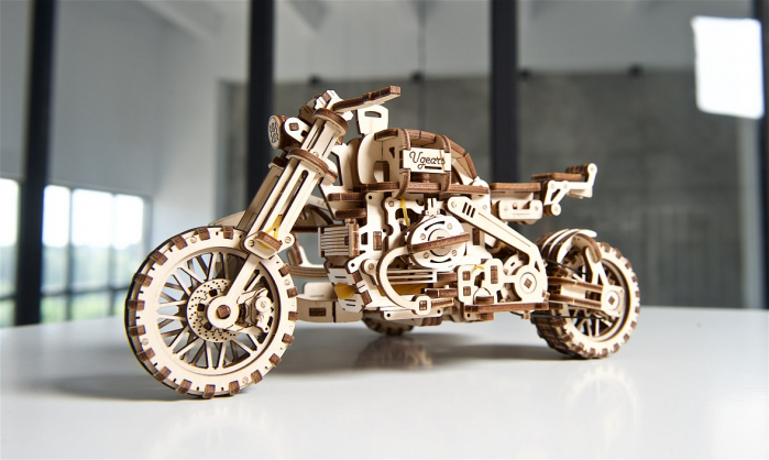 Puzzle 3D Mecanic, Motocicleta Scrambler UGR-10, 380 piese [19]