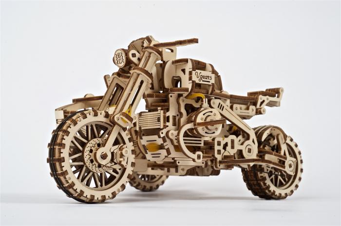 Puzzle 3D Mecanic, Motocicleta Scrambler UGR-10, 380 piese [0]