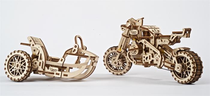 Puzzle 3D Mecanic, Motocicleta Scrambler UGR-10, 380 piese [4]