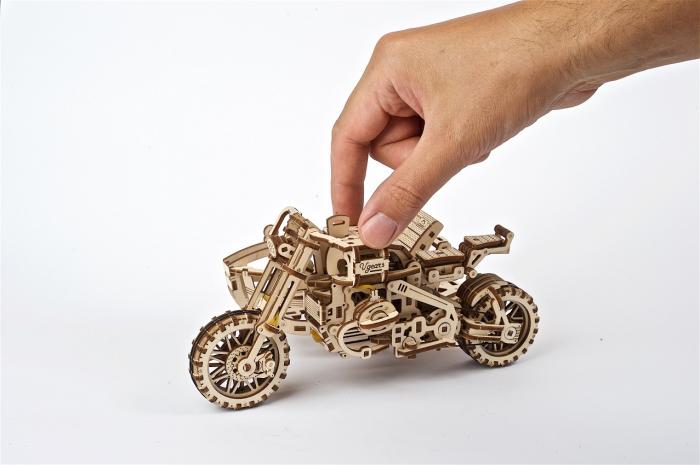 Puzzle 3D Mecanic, Motocicleta Scrambler UGR-10, 380 piese [5]