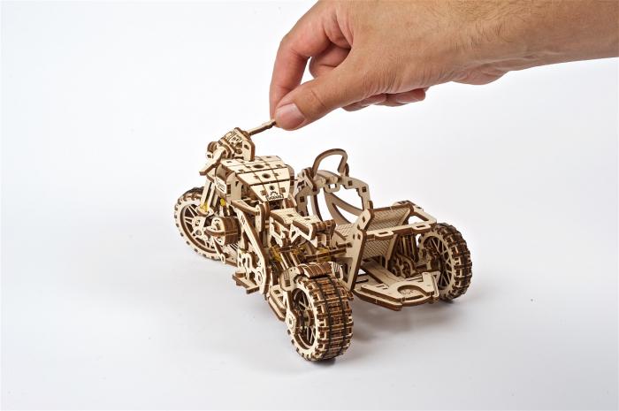 Puzzle 3D Mecanic, Motocicleta Scrambler UGR-10, 380 piese [6]