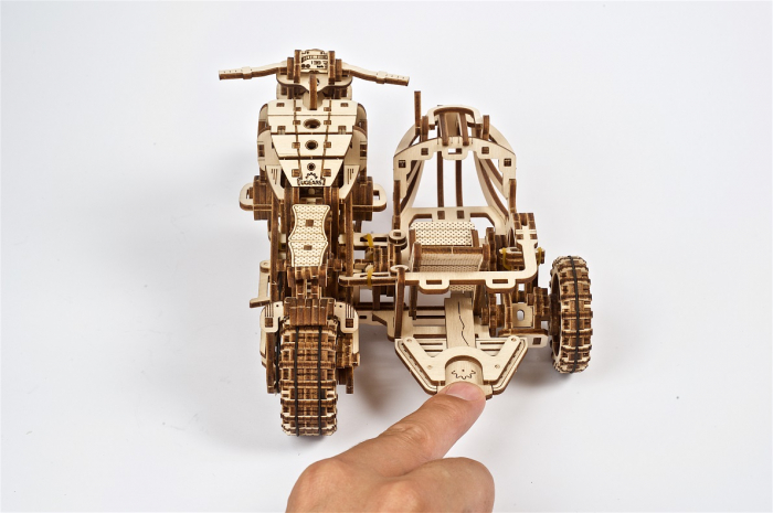 Puzzle 3D Mecanic, Motocicleta Scrambler UGR-10, 380 piese [8]