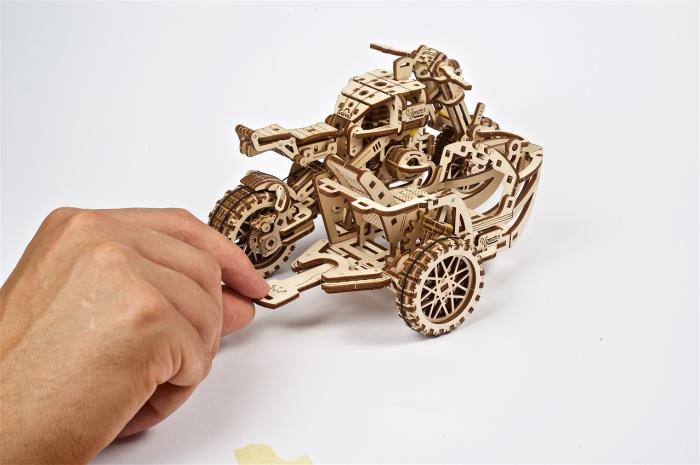 Puzzle 3D Mecanic, Motocicleta Scrambler UGR-10, 380 piese [7]