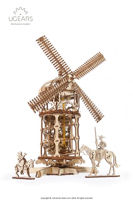 Puzzle 3D Mecanic, Moara de vant, 585 piese [0]