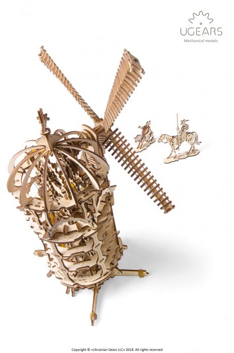 Puzzle 3D Mecanic, Moara de vant, 585 piese [5]