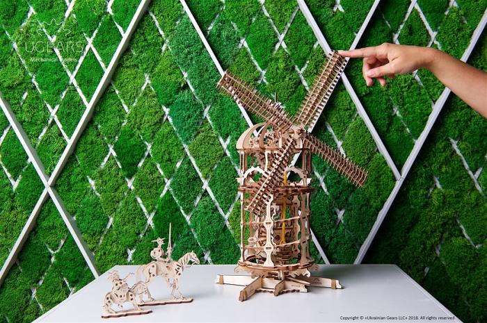 Puzzle 3D Mecanic, Moara de vant, 585 piese [8]