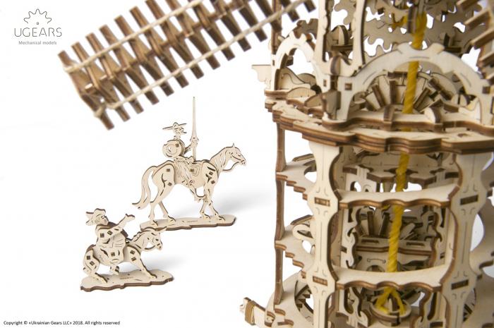 Puzzle 3D Mecanic, Moara de vant, 585 piese [3]