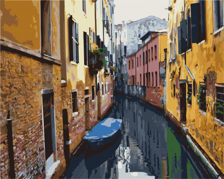 Set pictura pe numere, cu sasiu, Frumoasa Venetie, 40x50 cm0