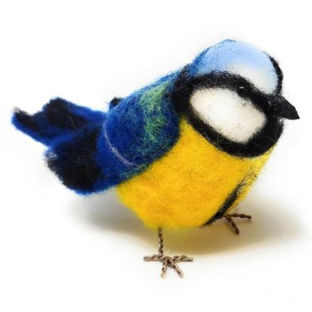Set creatie jucarii din lana, Pitigoi albastru [0]