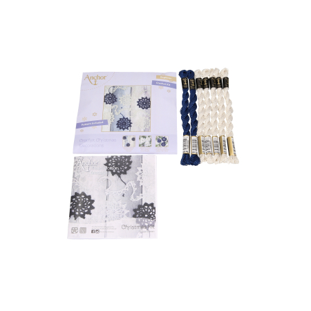 Set creatie accesorii crosetate, Fulgi de nea ghirlanda [2]