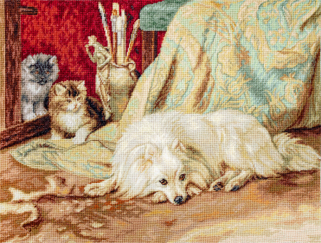 Set goblen, Caine si pisici, 30x23 cm [0]