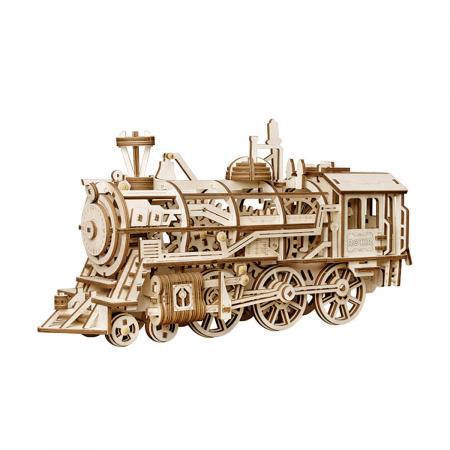 Puzzle 3D Mecanic Locomotiva Lemn [0]
