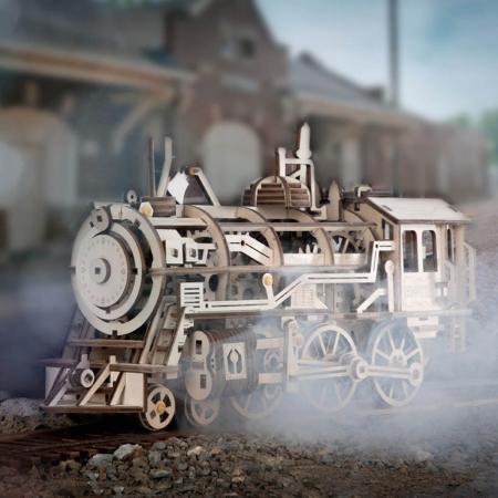 Puzzle 3D Mecanic Locomotiva Lemn [1]