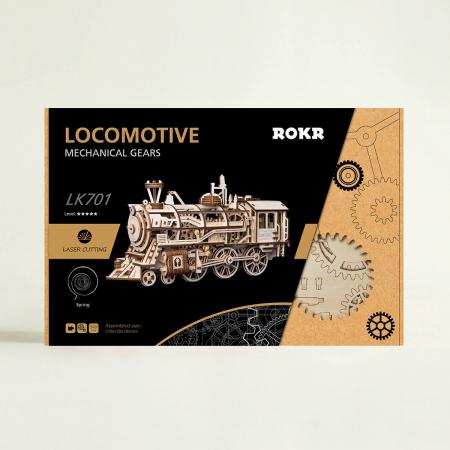 Puzzle 3D Mecanic Locomotiva Lemn [3]