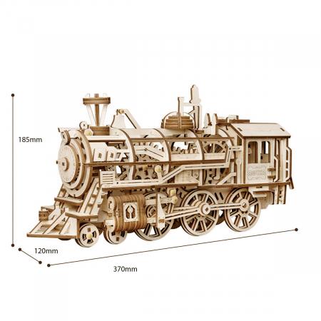 Puzzle 3D Mecanic Locomotiva Lemn [4]