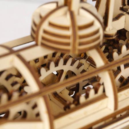 Puzzle 3D Mecanic Locomotiva Lemn [5]