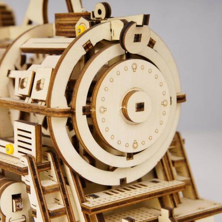 Puzzle 3D Mecanic Locomotiva Lemn [6]