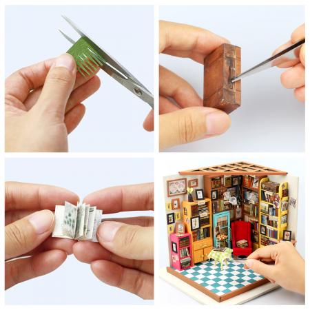 Puzzle 3D, Casuta DIY, Biblioteca lui Sam7