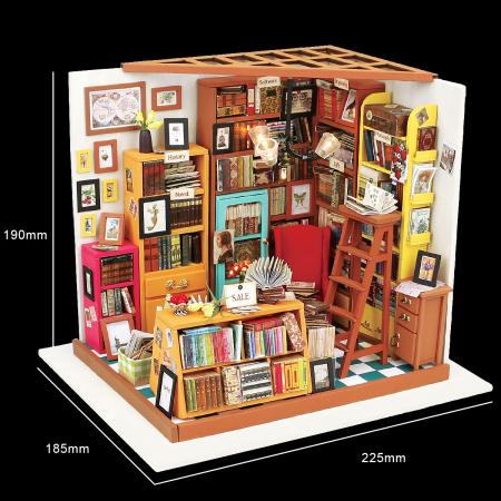 Puzzle 3D, Casuta DIY, Biblioteca lui Sam1