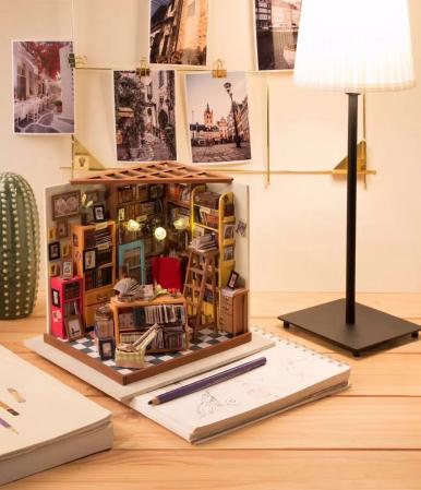 Puzzle 3D, Casuta DIY, Biblioteca lui Sam2