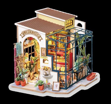 Puzzle 3D, Casuta DIY,  Floraria  lui Emily1