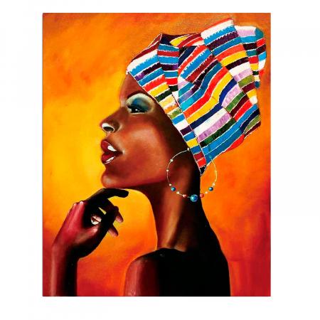 Set goblen cu diamante, cu sasiu, Portret african [0]