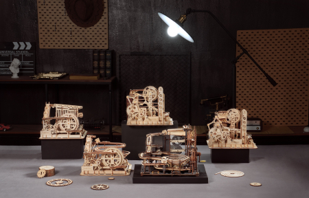 Puzzle 3D Marble Night City, Lemn, 294 piese [13]