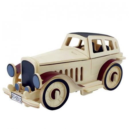 Puzzle 3D din lemn, Masina retro 2, 43 piese [0]