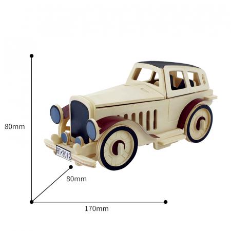 Puzzle 3D din lemn, Masina retro 2, 43 piese [1]